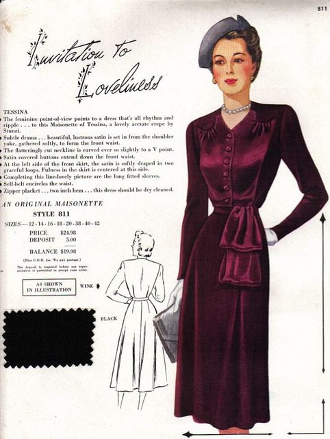 Maisonette frocks Salesman's sample (circa 1949). #vintage #1940s #fashion #dresses
