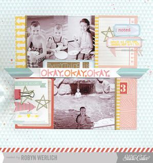 'Okay' Layout by Robyn Werlich using December Kits at Studio Calico