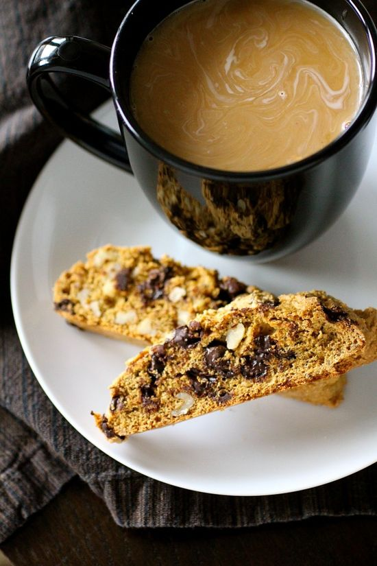 Deep Dark Chocolate Biscotti by thecurvycarrot as adapted from Cooking Light #Biscotti #Chocolate