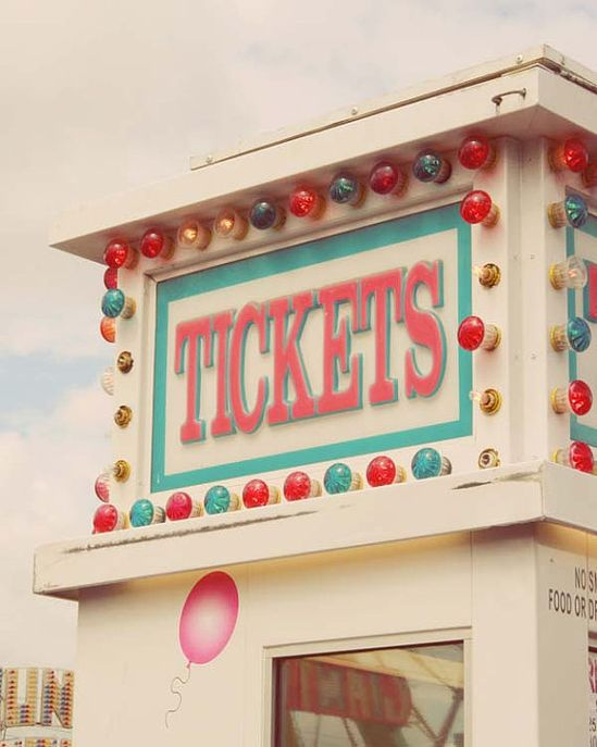 Carnival ticket booth...