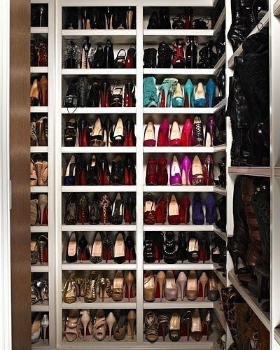 Closet full of heels fashion girl shoes pretty girls heels high heels shoe fashionable cute shoes