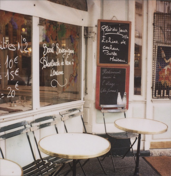 cafe in Paris, by Jen Gotch