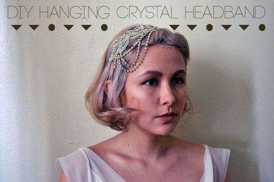 3. Hanging Crystal Headband