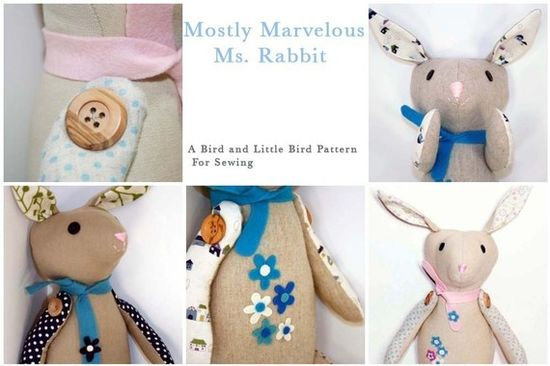 cute rabbit sewing pattern on etsy