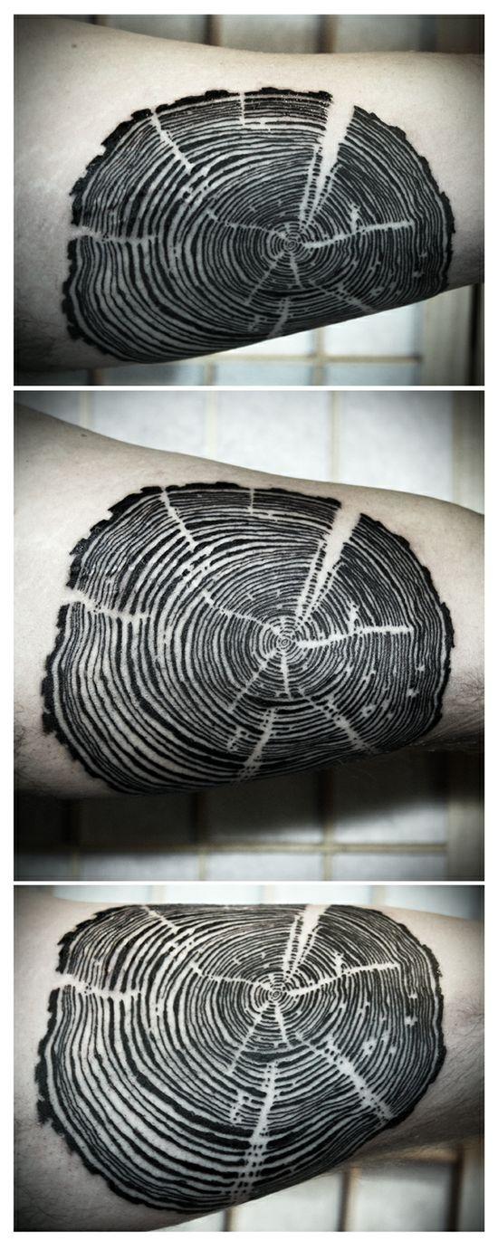 Tree rings - Love Hawk Tattoo Studio