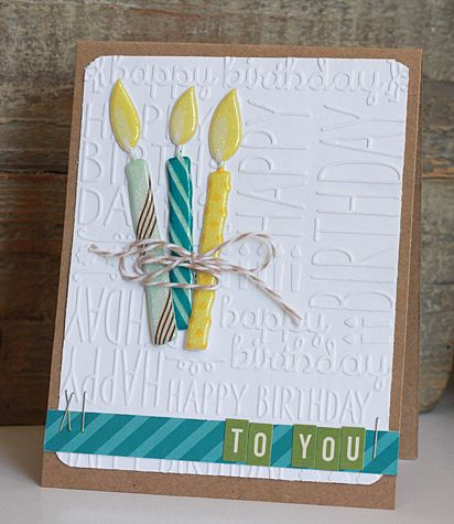Nice card using this embossing folder