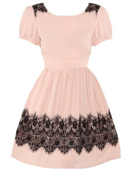 Pink Lacy Party Dress