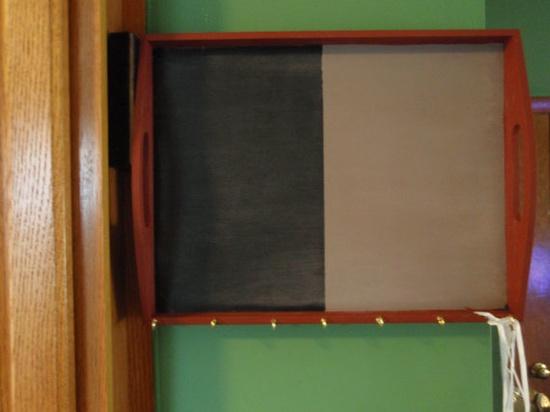 Chalk Board Key Rack by KnickKnackCorner on Etsy, $25.99