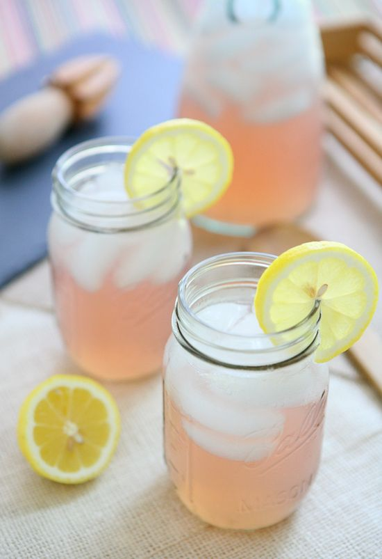 Old Fashioned Pink Lemonade      (1 cup sugar  1 cups water  1 cup lemon juice  1 cup cranberry juice  5 cups water)