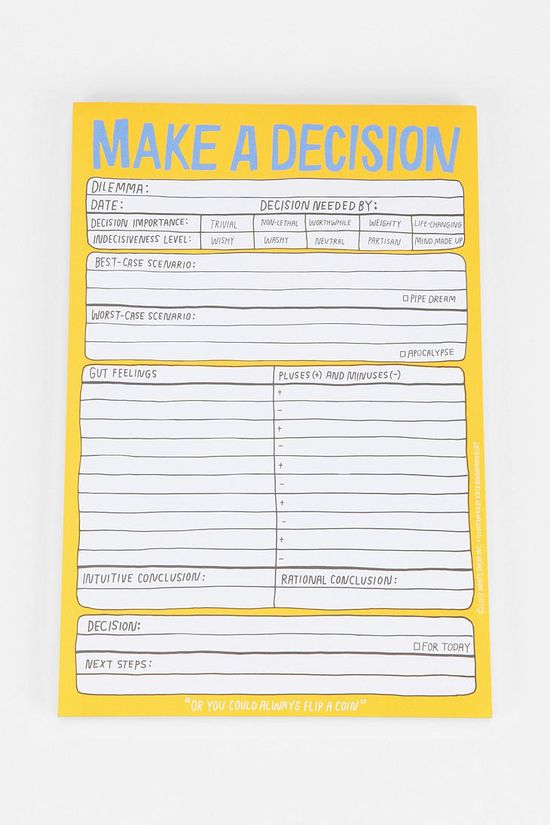 Love this Make a Decision Form - Perfect!