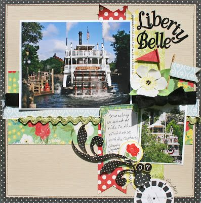 #papercraft #scrapbook #layout #Disney Creatively Savvy