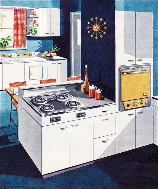 1953 Thor Electric Kitchen    Source: Better Homes & Gardens  From the Mid Century Home Style collection.