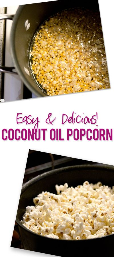 Cut the butter! Try this Easy and Delicious Coconut Oil Popcorn Recipe! #popcorn #homemade #howdoesshe