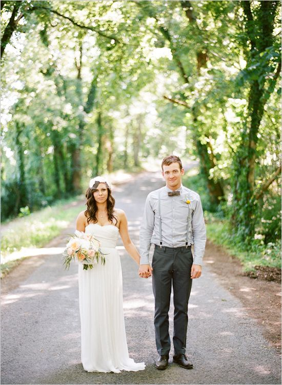 Lovely couples at this relaxed holding hands