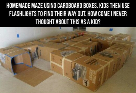 The kids would LOVE this.. good idea for when we move into the new house with all the boxes..:)