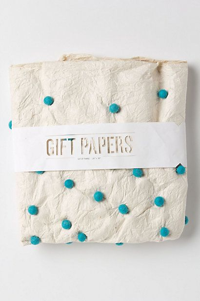 amazing wrapping paper + die cut band