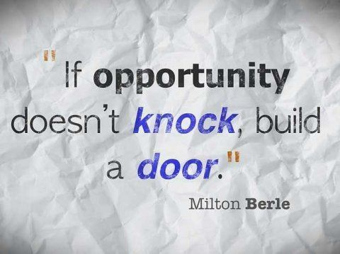 Inspirational Quote About Opportunity