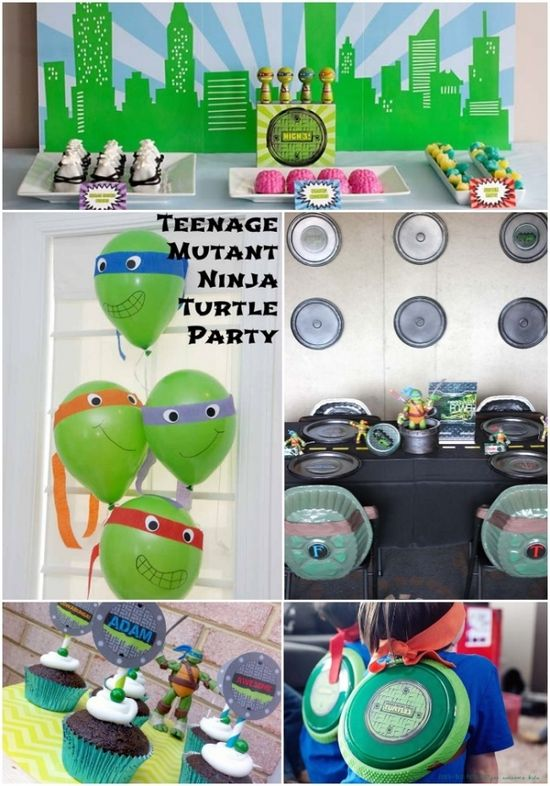 Teenage Mutant Ninja Turtles Party Ideas www.spaceshipsand...