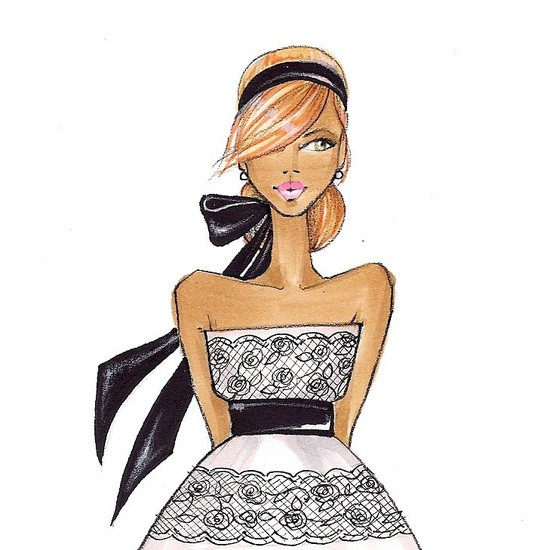 brooklit      Fabulous Doodles fashion illustrations by Brooke Hagel