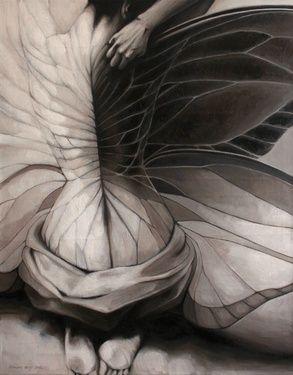 "Saatchi Online Artist Doris Tesárková Oplová; Painting, ""Unexpected Change"" #art"