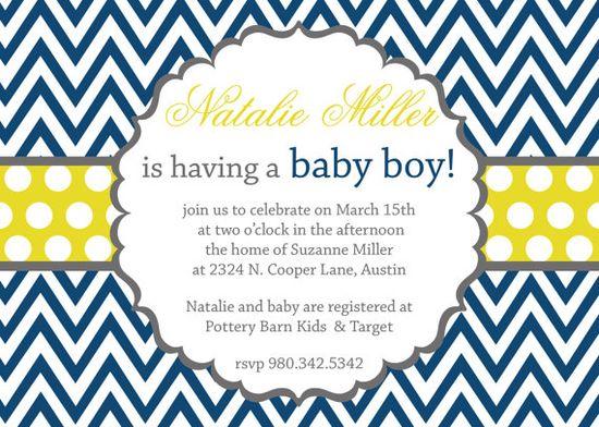 Boy- baby shower invites