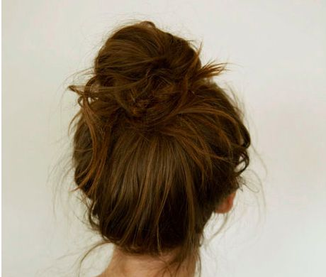 Wish I could do this good of a messy bun ):