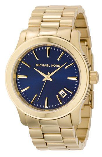 Michael Kors 'Clean Navy Dial' Bracelet Watch