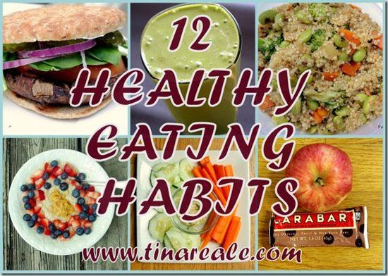 12 healthy eating habits