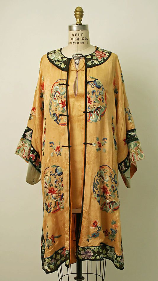 1920's style clothing - these are Chinese silk beach pajamas ca. 1929