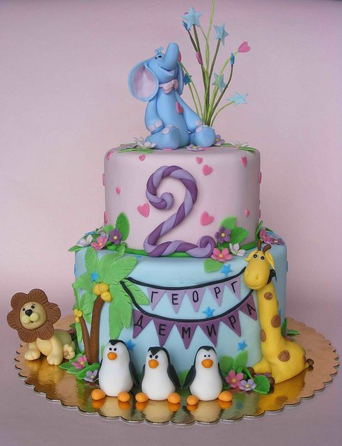 Cute animal cake.