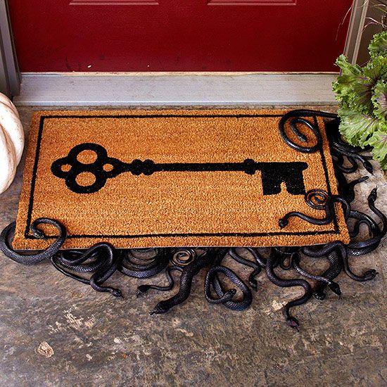 Slithering Snake Doormat - spooky! More easy Halloween Crafts: www.bhg.com/...