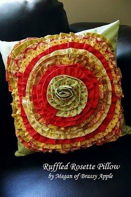 Moda Bake Shop: Ruffled Rosette Pillow