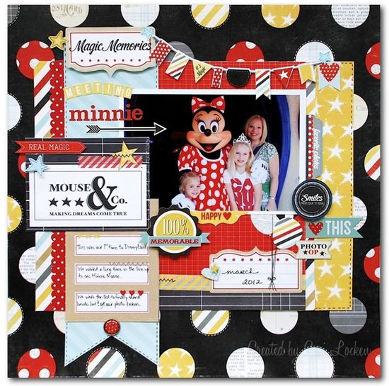 #papercraft #scrapbook #layout #Disney Meeting Minnie - Scrapbook.com