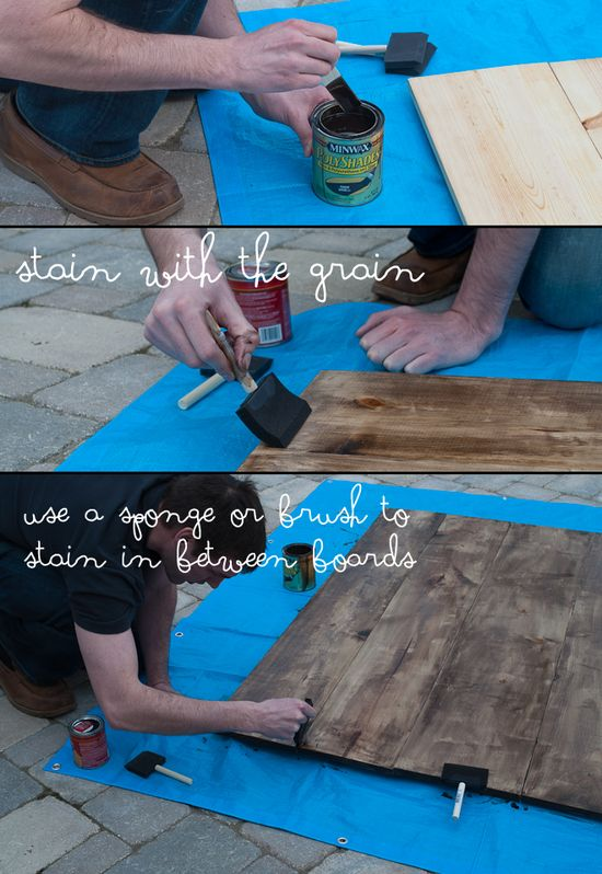 Createlive: DIY Rustic Wooden Headboard