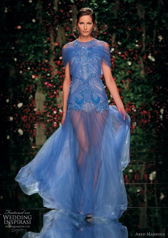 Blue wedding dress idea abed mahfouz @ weddinginspirasi....