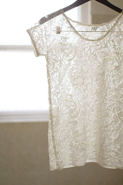 Sew a lace top
