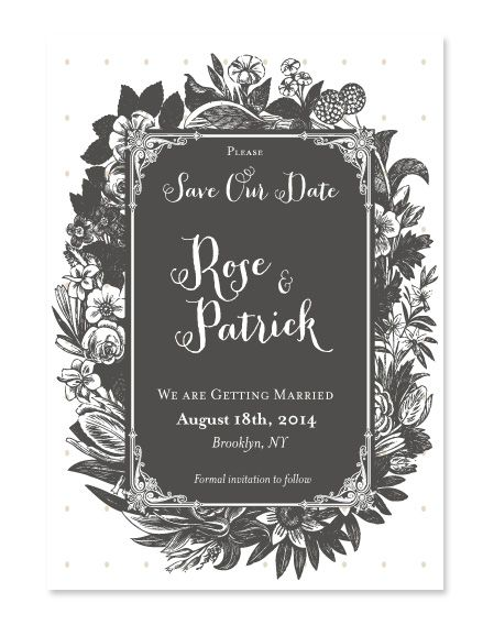 Lovely romantic wedding invitation inspired by Jane Austen.