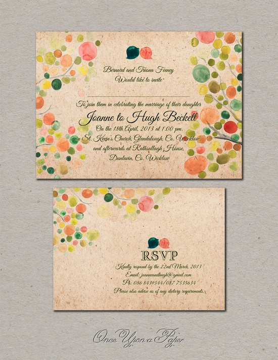 DIY Printable Custom Wedding Suite Package - Save the Date, Wedding Invitations, RSVP, Thank You Cards. $65.00, via Etsy.