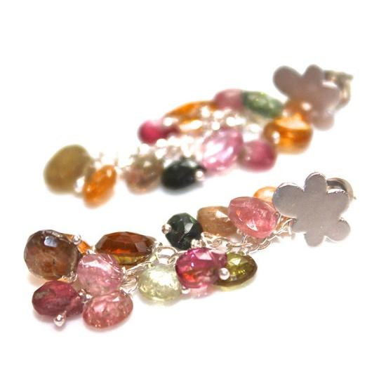 Rainbow Tourmaline Earrings Silver Cloud Earrings by FizzCandy