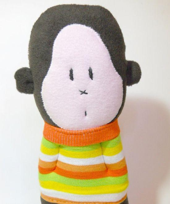 fleece stuffed animal toy gorilla sock animal by TreacherCreatures, $24.00