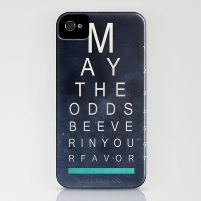 May The Odds Be Ever In Your Favor iPhone case $35 Now I really would like an iPhone :D