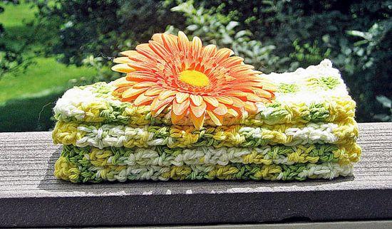 Cotton Crochet Washcloths Dishcloths by HandmadeByAnnabelle, $12.00