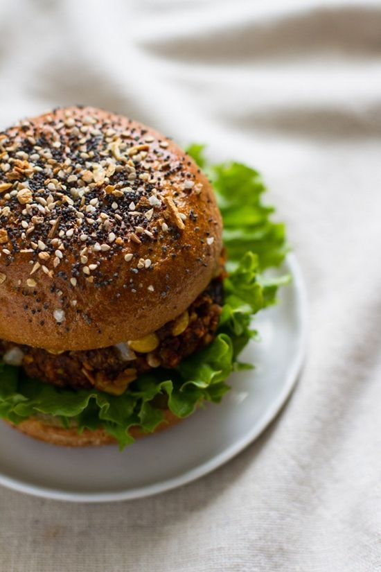 The Loaded Veggie Burger - This looks to die for! #Healthy #Classics #Veggies #Skinny #Recipes #Cooking #Yum