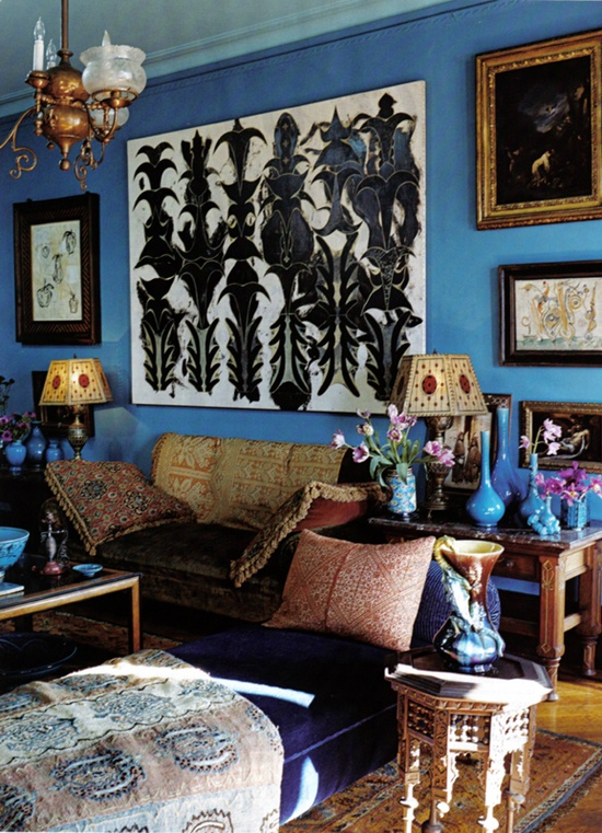 "Living room of Philip Taaffe, ""Memory Artist"" Vogue Feb 2007"