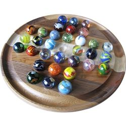large generals grant solitaire, handmade marbles
