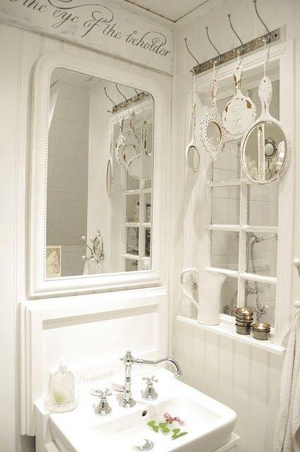 rustic white bathroom shabby