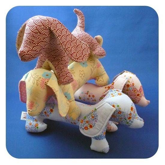 Jake The Weiner Dog sewing pattern by jojoebi on Etsy
