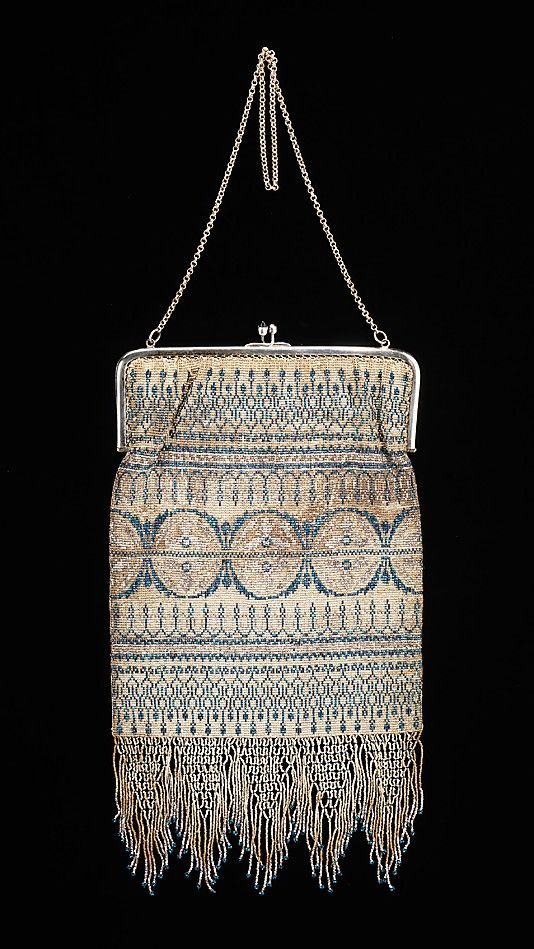 ~Evening purse  Date: ca. 1925 Culture: French~