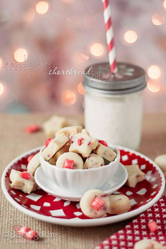 Candy Cane Shortbread Bites. Just try not to eat them all. You will fail, but try.
