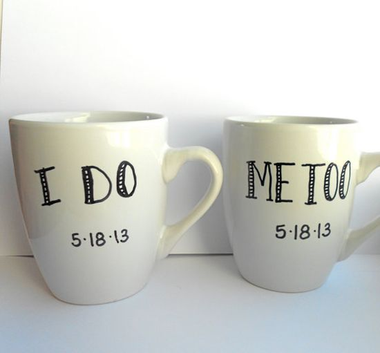 Set of Two Personalized I DO ME TOO by indigotwinweddings on Etsy, $28.00